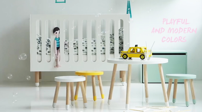 baby bed Flexa Play designed by Charlotte Høncke