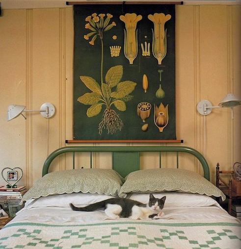 Addolcire la camera da letto con poco - Quadro sopra letto ...