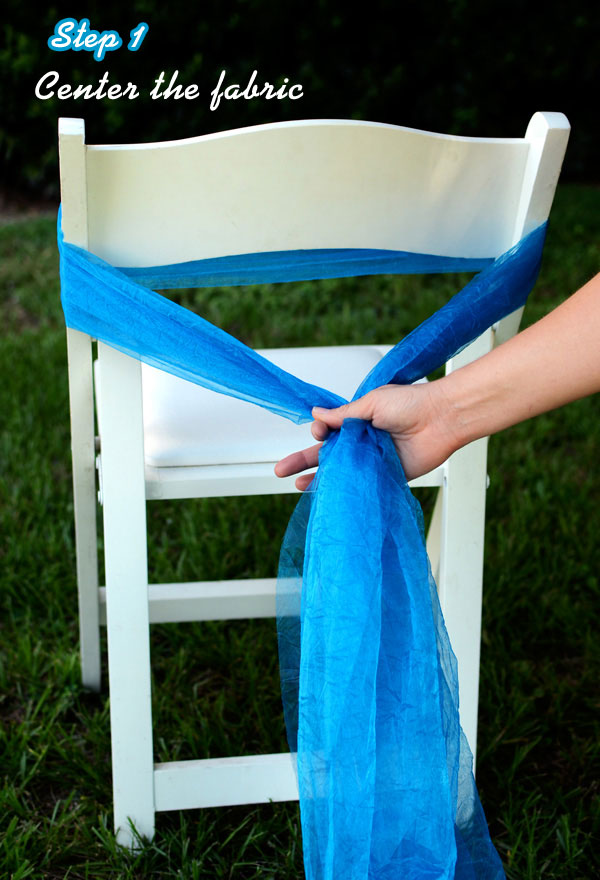 Deco Mesh, Crinkle Sheer, Chair Sash, DIY, Tutorial, Rosettes, Wedding, How to