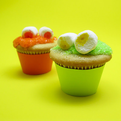 mini monster cupcakes  for Halloween
