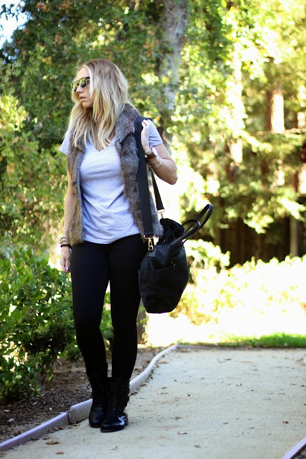 Chic diaper bag style