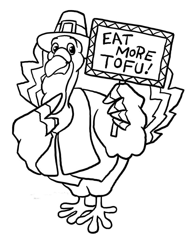 Thanksgiving Coloring Pages Funny Thanksgiving Turkey
