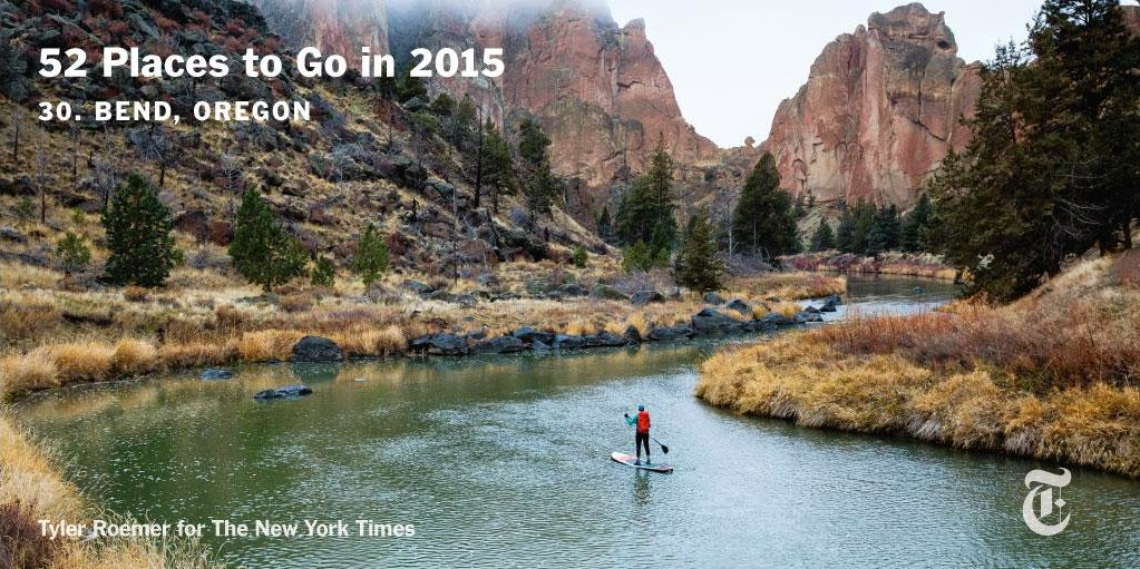 Stand up paddle board at Smith Rock State Park in Oregon for New York Times -Travel