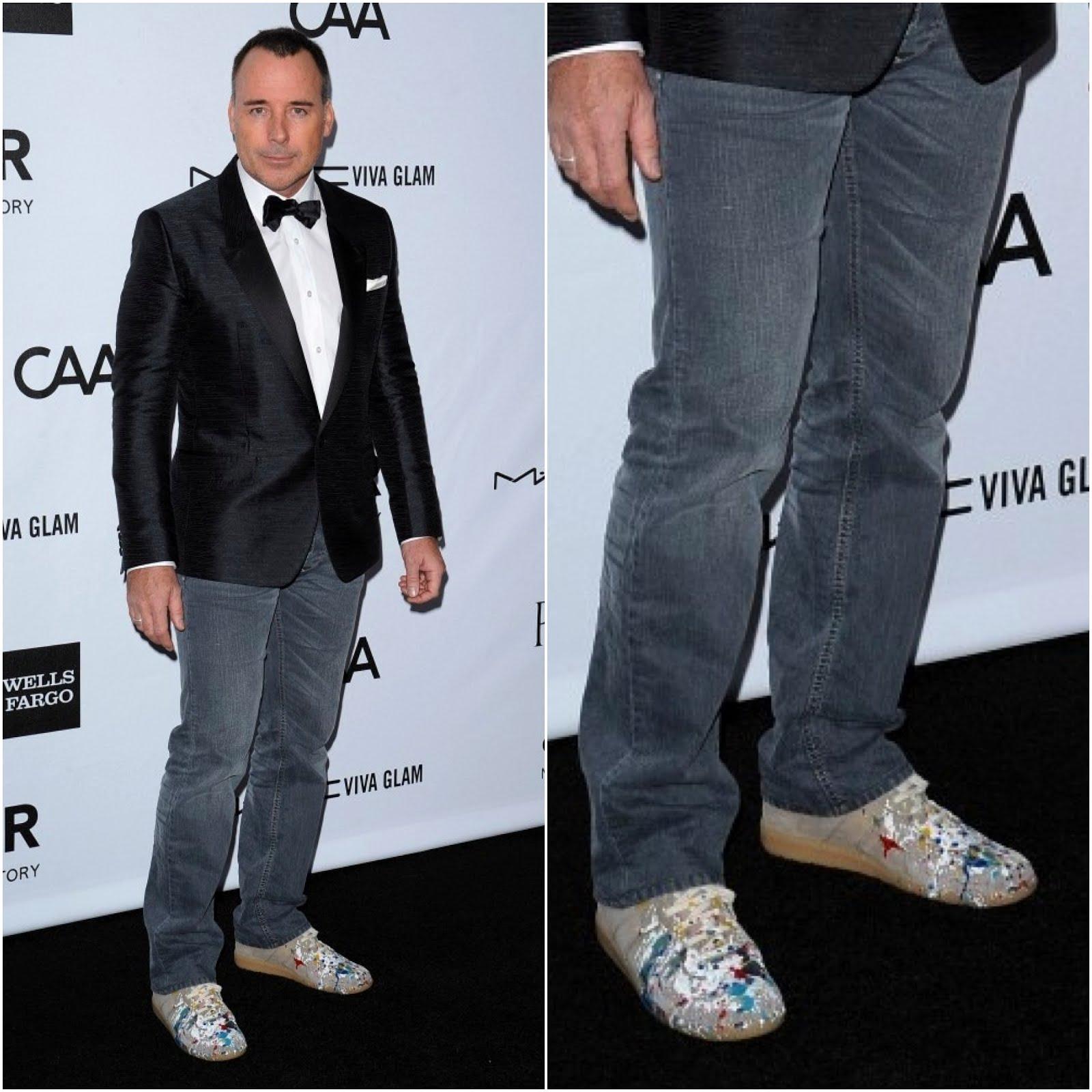 00O00 London Menswear Blog David Furnish Maison Martin Margiela sneakers amfAR Inspiration Gala 2012