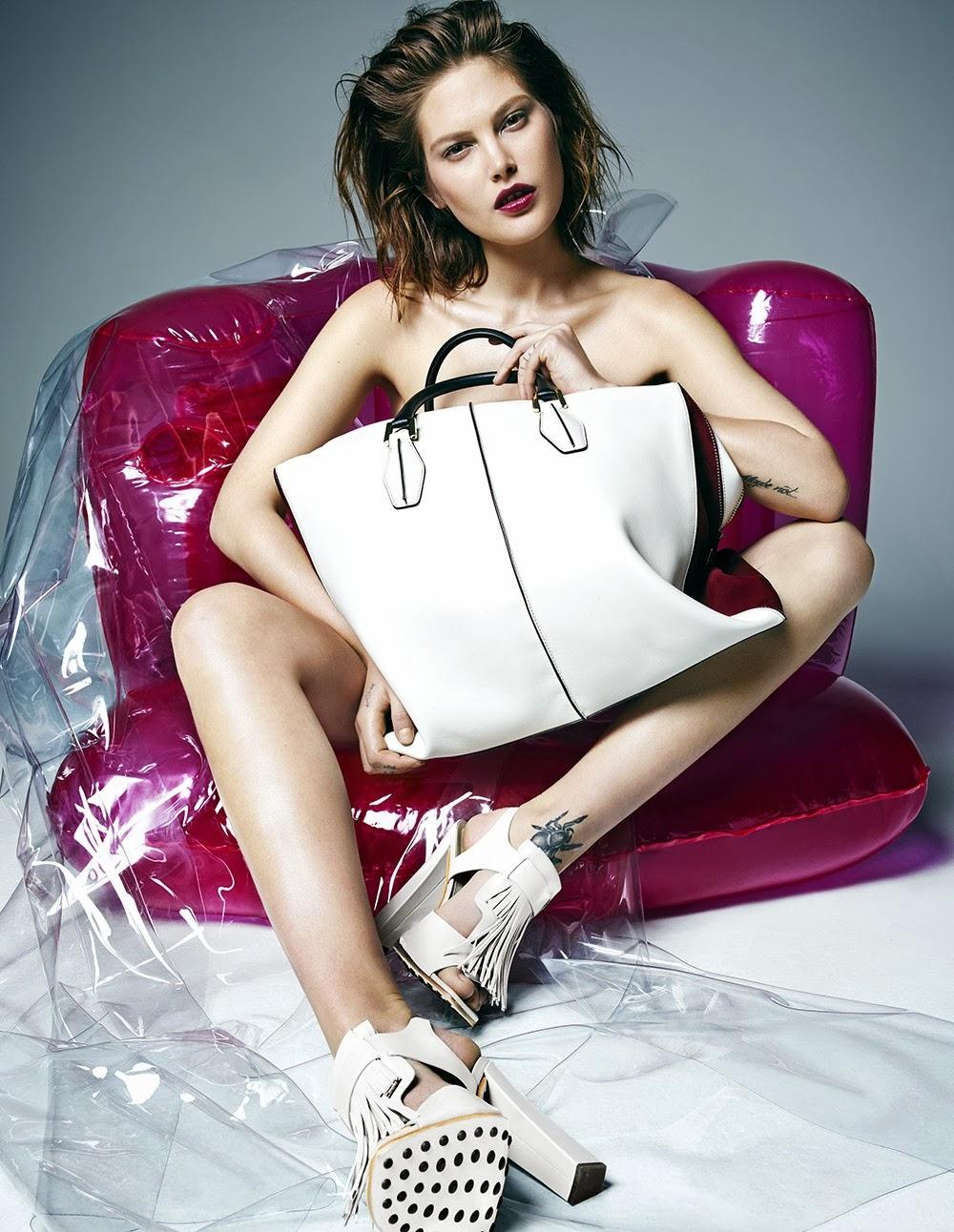 Catherine McNeil W Korea Magazine Photoshoot February 2014 By Hong Jang Hyun
