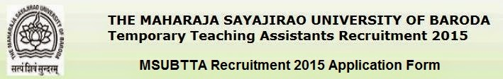 MSUBTTA Recruitment 2015 Details