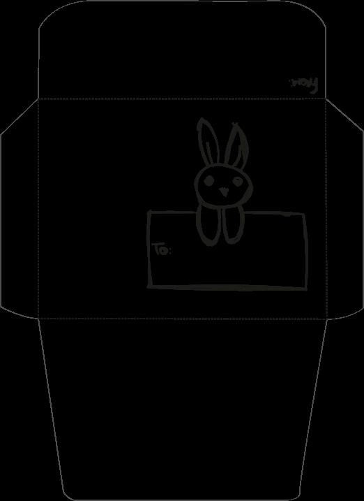 sobre conejo byn