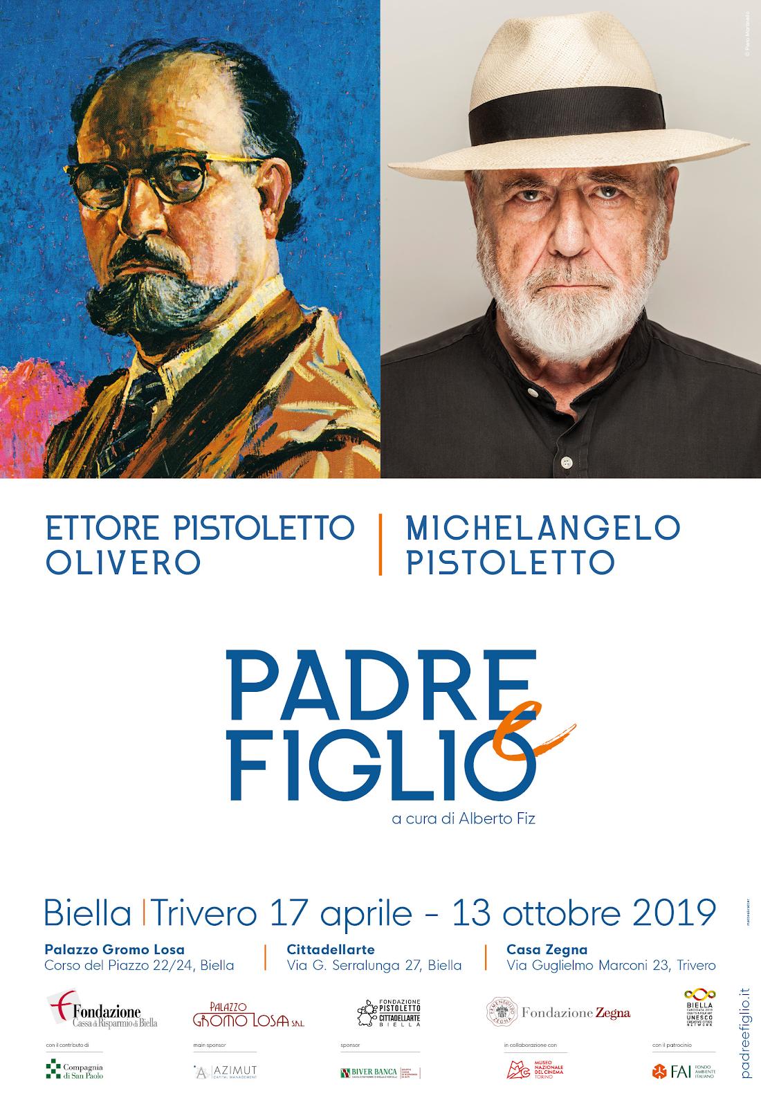 Padre e figlio Pistoletto percorso Biella-Trivero