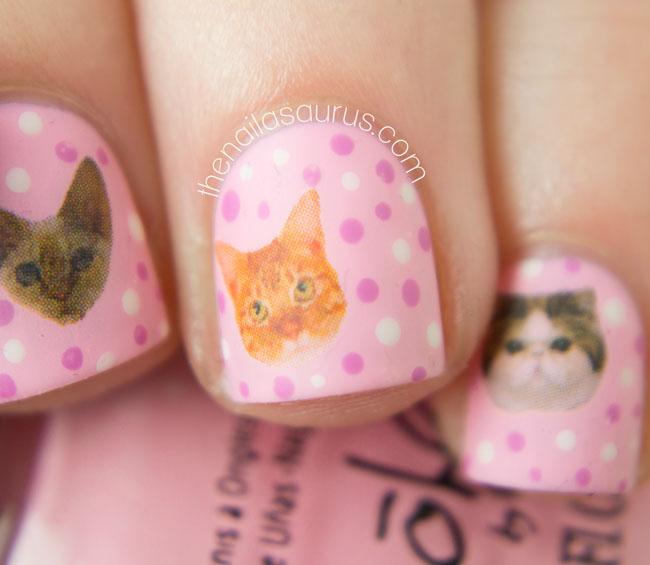 Cat Nail Art Macro