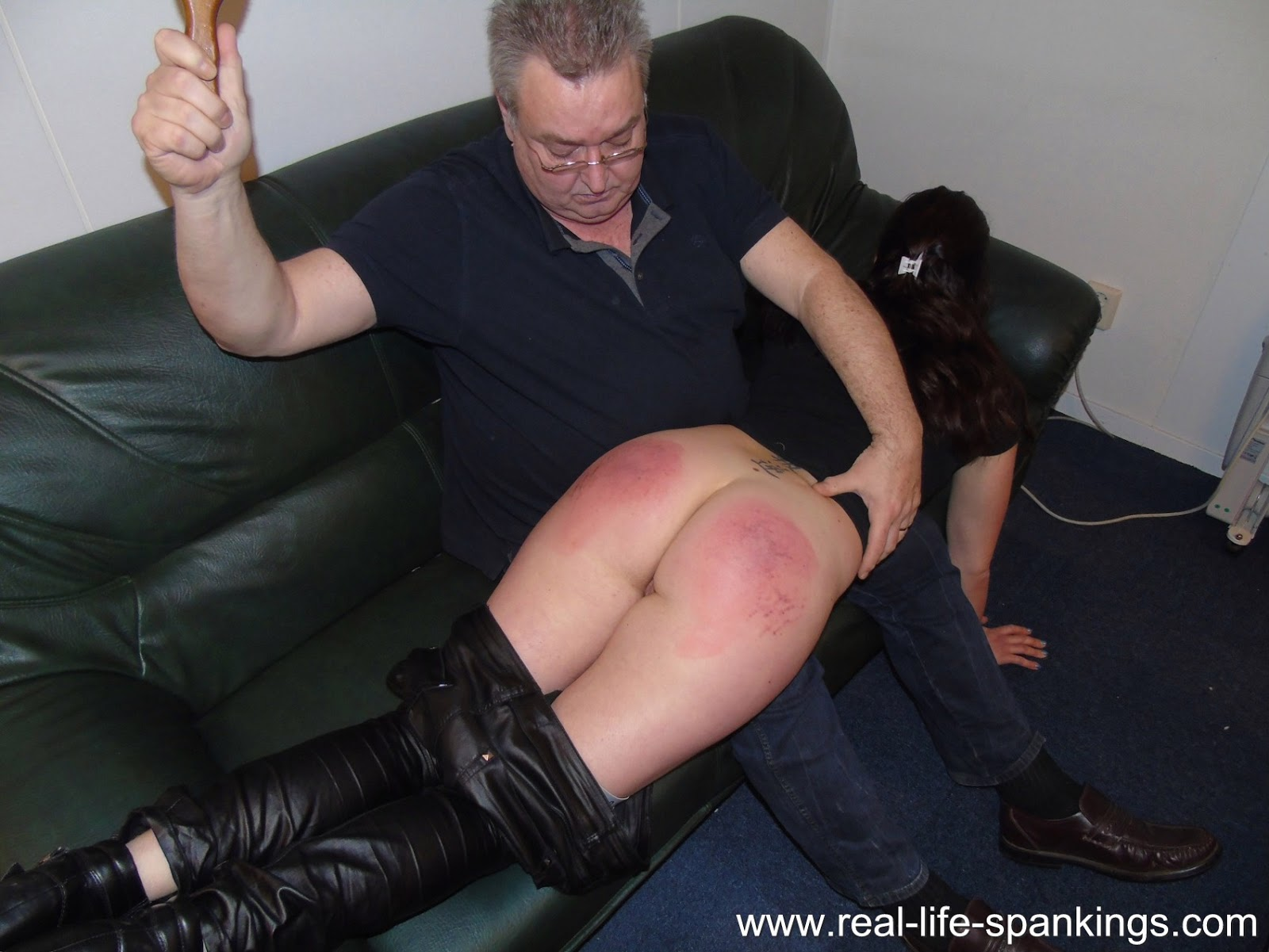 real life spanking