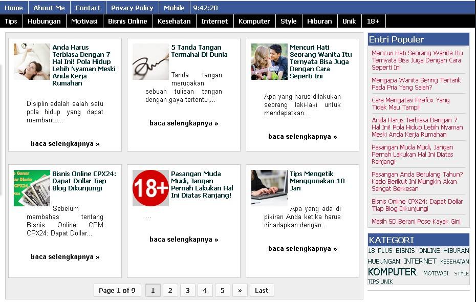 cara merubah tampilan home menjadi 4 kolom, cara merubah tampilan home menjadi 3 kolom, cara merubah kotak postingan menjadi kotak-kotak, cara mengatur homepage menjadi magazine  endolita.blogspot.com