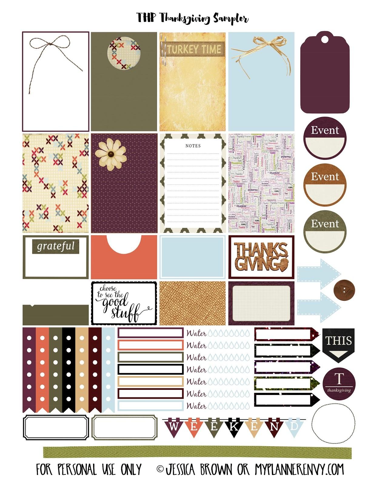 Thanksgiving Sampler - Free Planner Printable   My Planner Envy