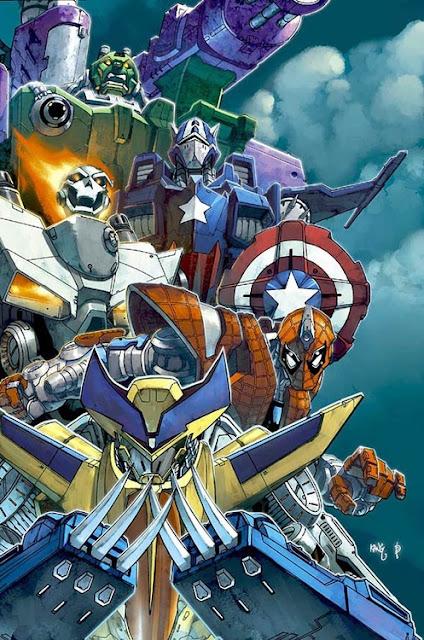 MashUp Superhéroes de Marvel vs. Transformers