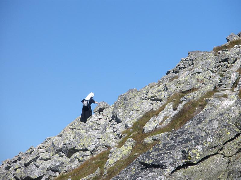 Podejście na Zadni Granat zielonym szlakiem.