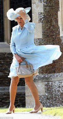 Duchess of Cornwall nearly suffered a wardrobe malfunction at Charlotte's christening