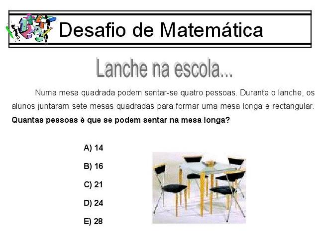 Modelos de problemas de matematica