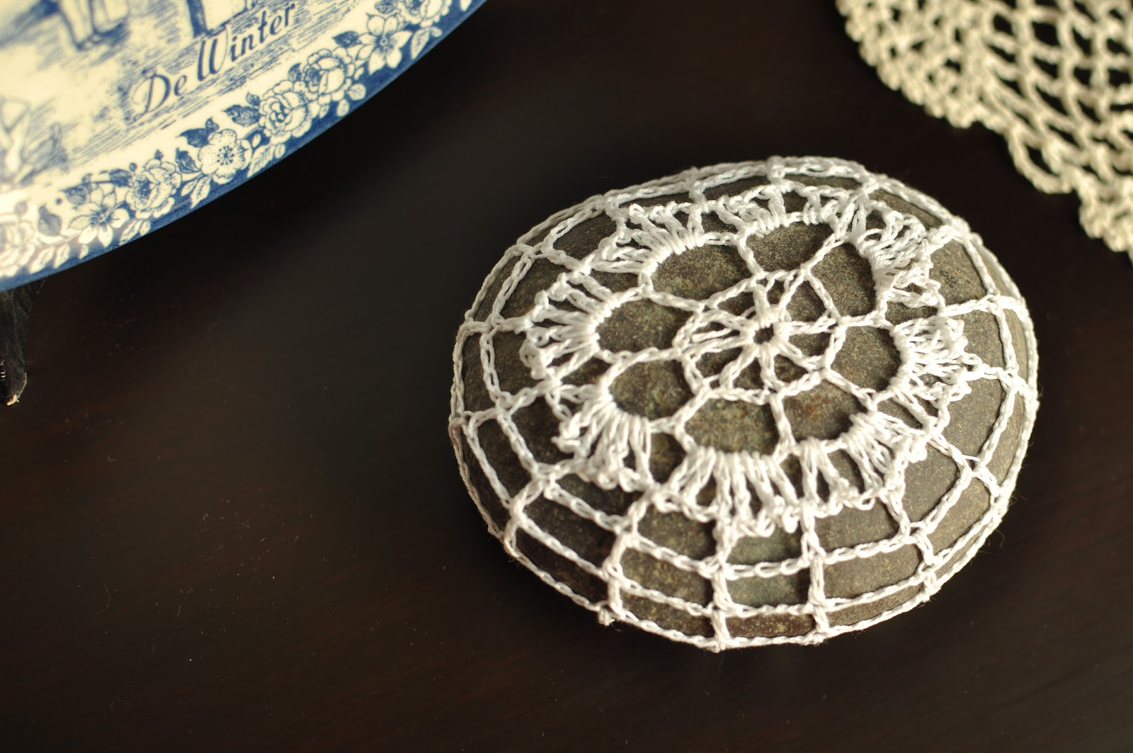 Pie pieces i enjoy crochet lace covered rock build your home crochet lace covered rock build your home bankloansurffo Gallery