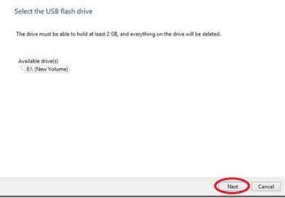 select-usb-flash-drive