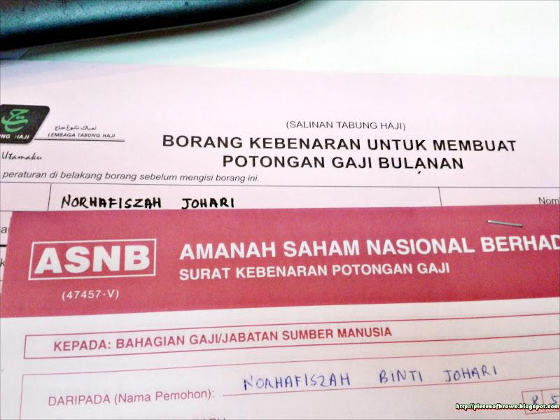 Fiszah Pjo Potongan Gaji Untuk Simpanan Di Tabung Haji Dan Asb