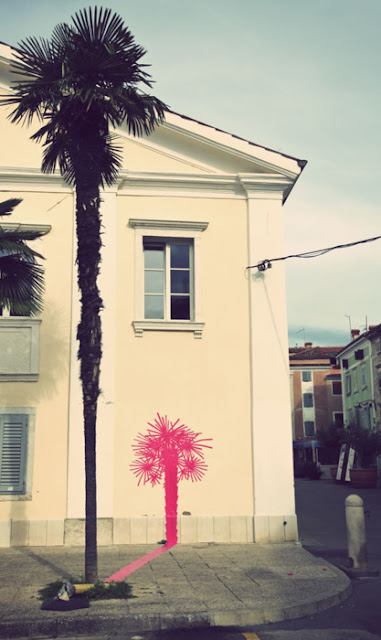 street art - palm tree