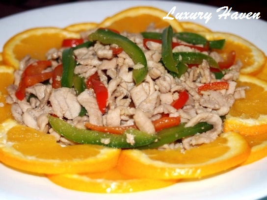 chinese new year orange blossom shredded pork recipes