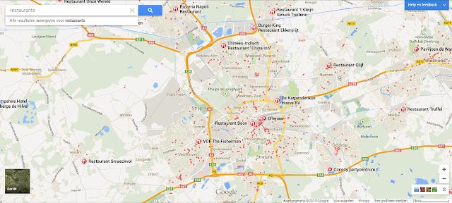 New Google Maps Restaurants suggestions