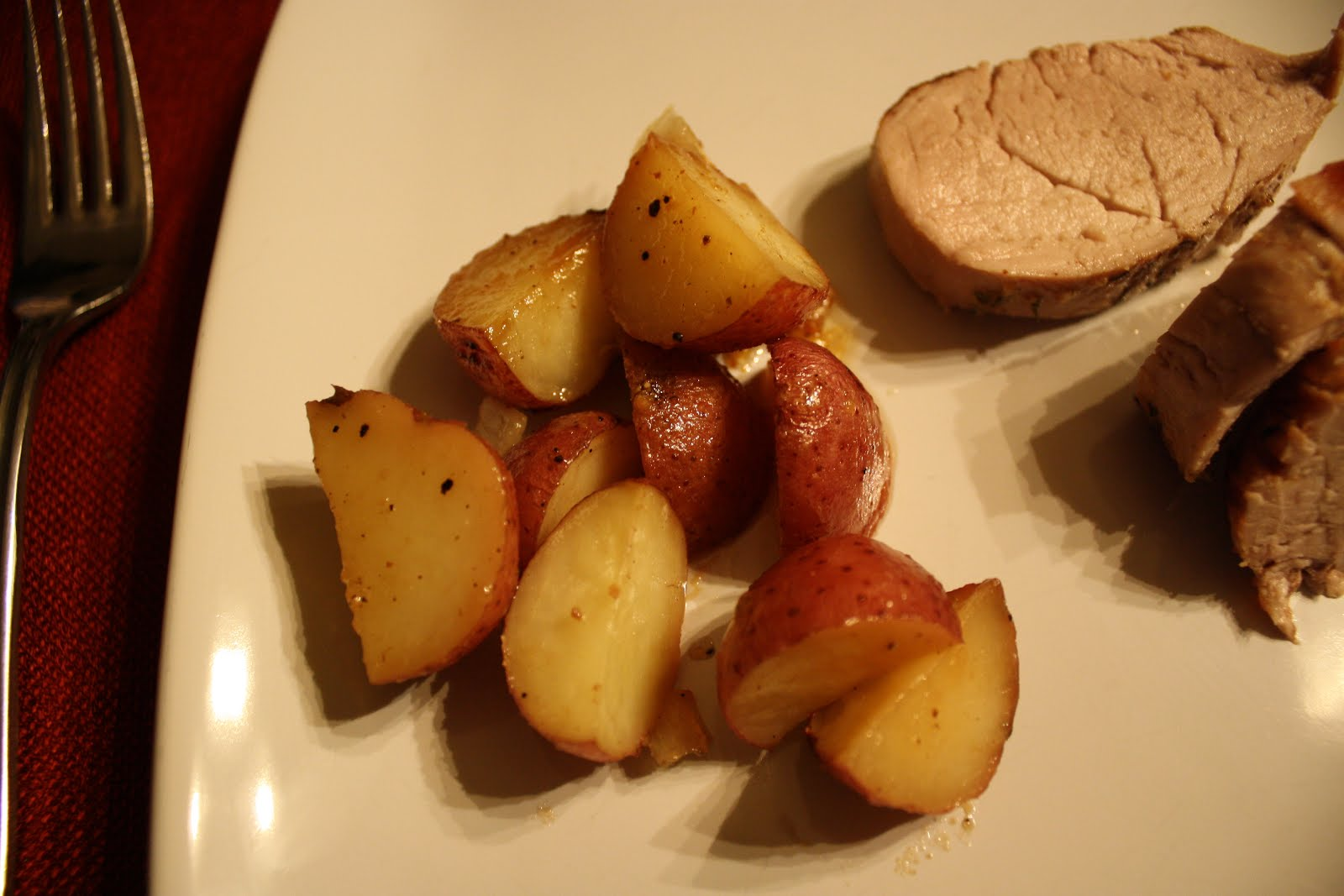 Lactose-Free Girl: Honey-Roasted Red Potatoes