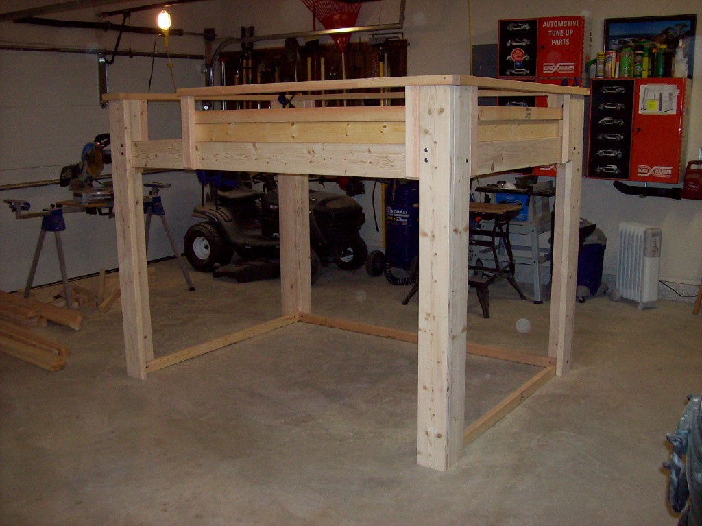 woodwork full size loft bed frame plans pdf plans