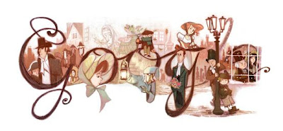Charles Dickens' 200th Birthday Google Doodle