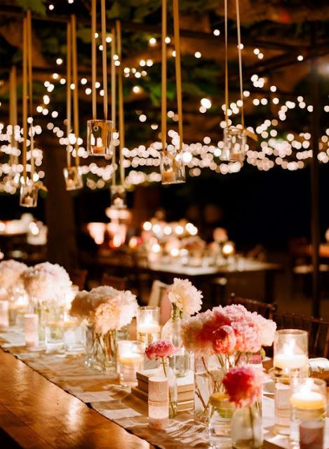 iluminación con tarritos bodas
