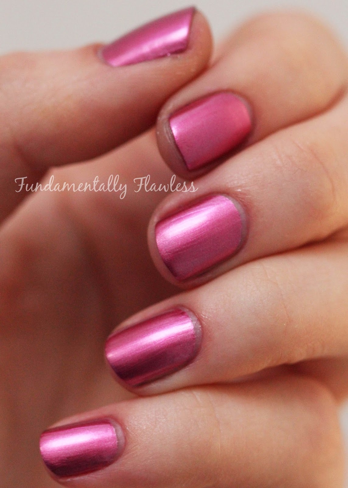 Models Own Colour Chrome Collection Cerise Swatch