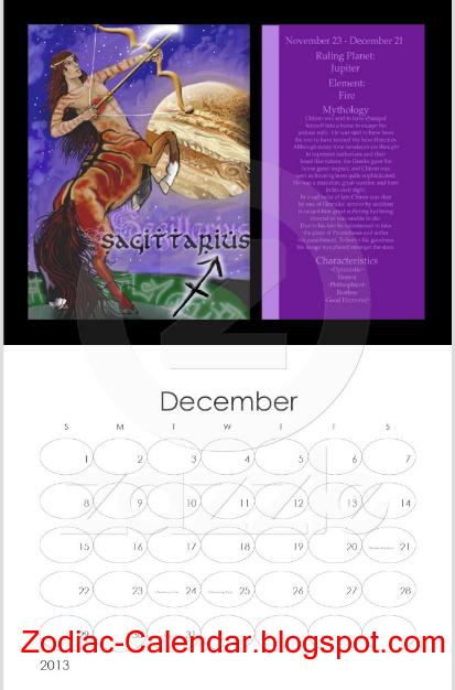 May Zodiac Calendar : Zodiac calendar