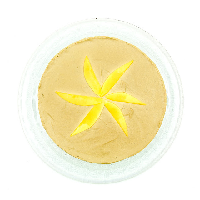 Raw mango cake from above