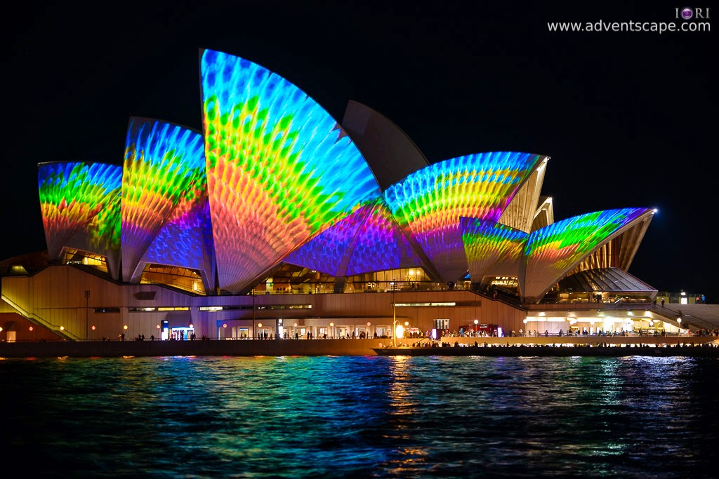 Philip Avellana, Australian Landscape Photographer, Vivid Sydney, Event, CBD, NSW, New South Wales, Australia, lighting, long exposure, 2013, light pattern, Sydney Opera House, woven colors