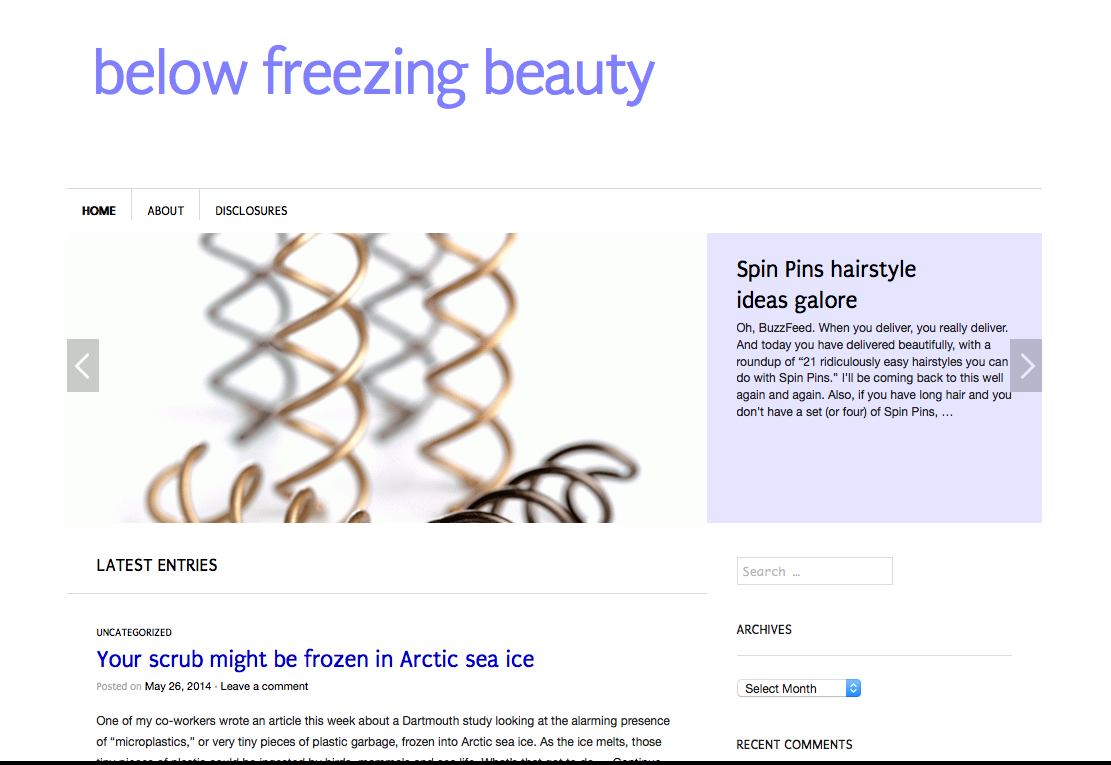 BelowFreezingBeauty.com