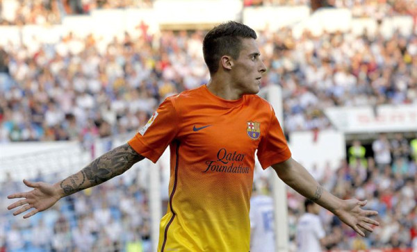 Christian Tello celebrating Scoring against Real Zaragoza