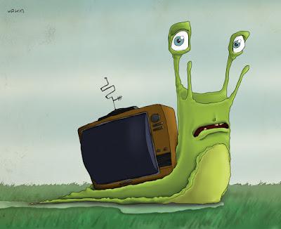 urka green illustration digital snail television