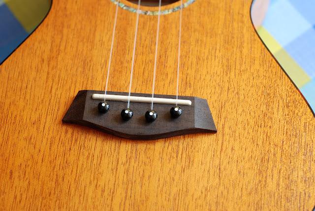 Islander MST-4 ukulele bridge