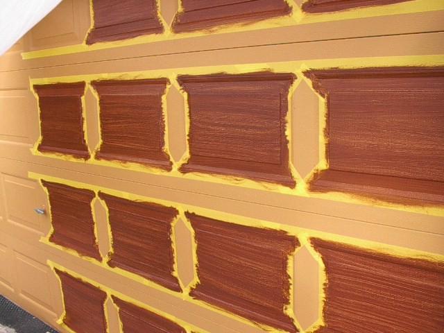 Garage door tutorial everything i create paint garage for Faux painting garage doors look like wood