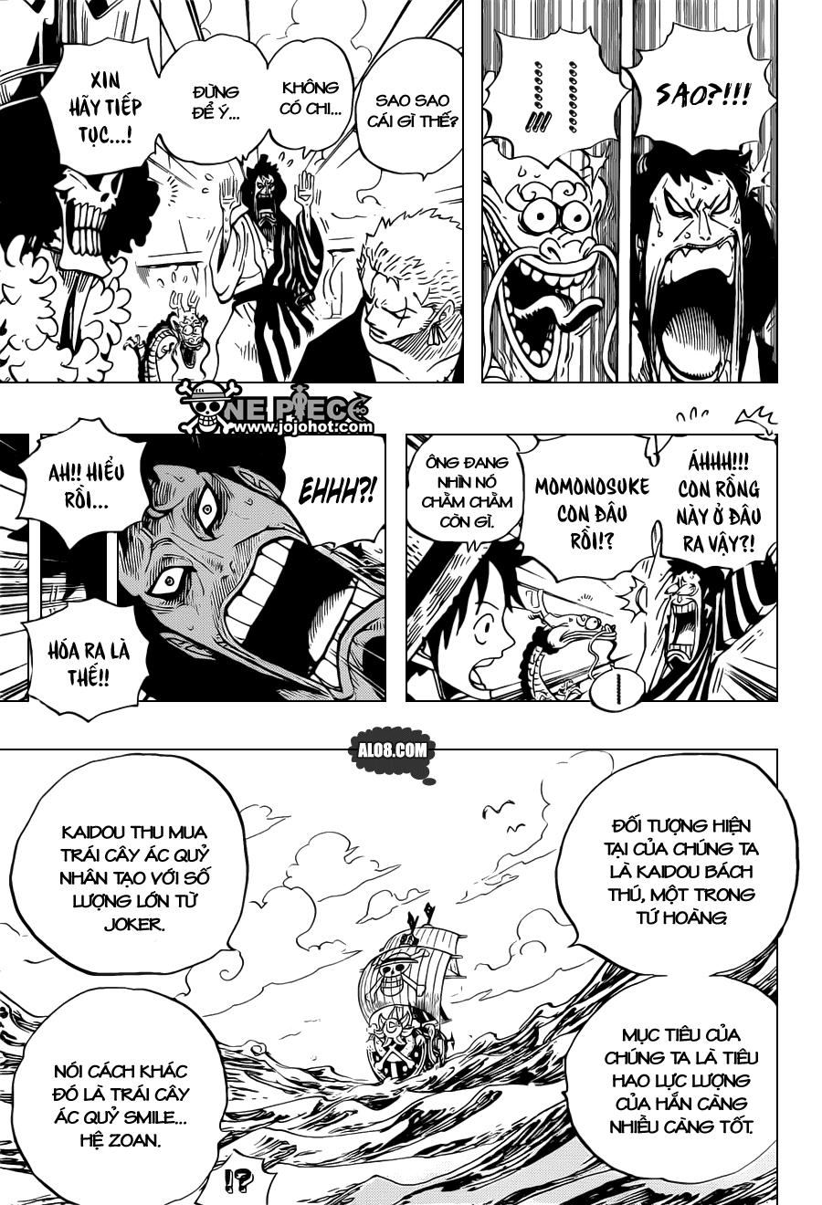 One Piece Chapter 698: Doflamingo xuất hiện 015