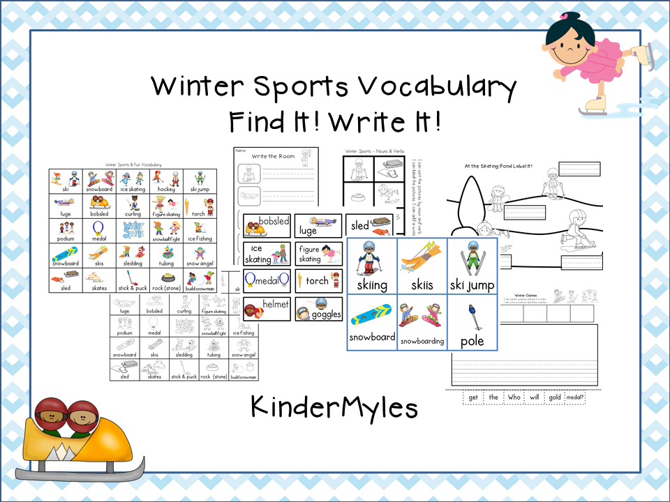 http://www.teacherspayteachers.com/Product/Winter-Sports-Vocabulary-Write-It-1069762