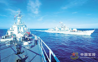 A Chinese People's Liberation Army Navy fleet is heading for more training in the South China Sea, after conducting patrols and exercises in the West Pacific.