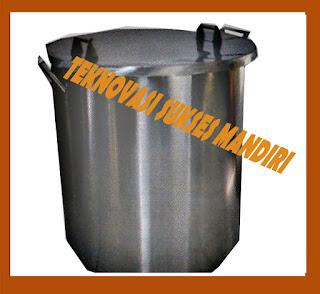 drum merebus kedelai untuk bahan baku tempe
