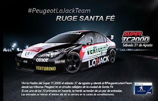 #PeugeotLoJackTeam, Super TC 2000, Santa Fe, Espectáculos Santa Fe