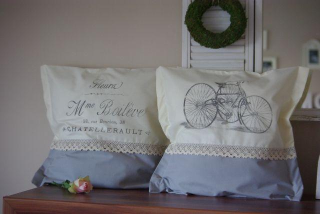 poduszki vintage, poszewka shabby schic, poszewka w stylu francuskim