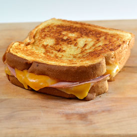 Grilled Ham And Cheese Sandwich Behind the bites: grilled ham and ...