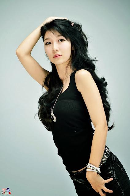 4 Go Jung Ah in black -Very cute asian girl - girlcute4u.blogspot.com