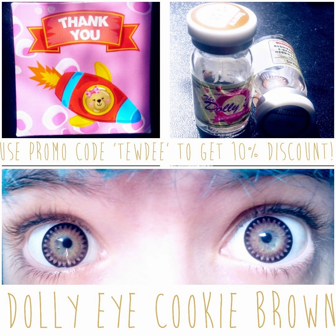 Wear Brown Circle Lenses against Light Eyes for Dolly Effect: Dolly Eye Cookie Brown