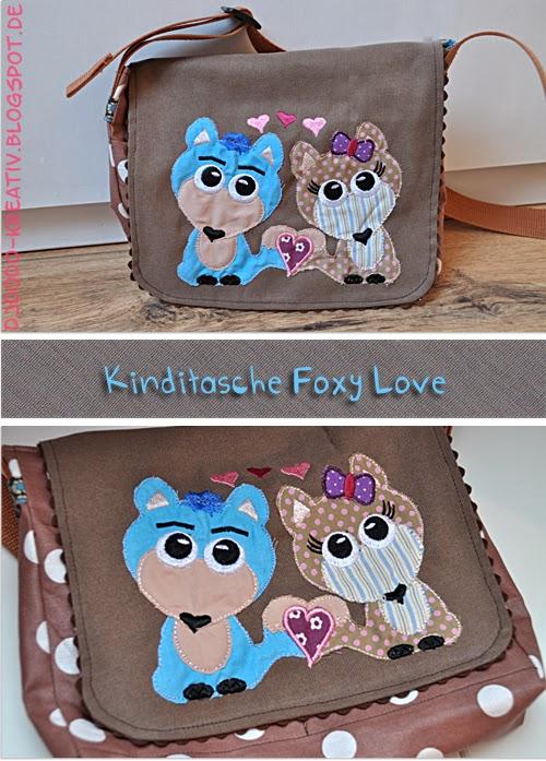 Kinditasche mit Stickdatei Foxy Love