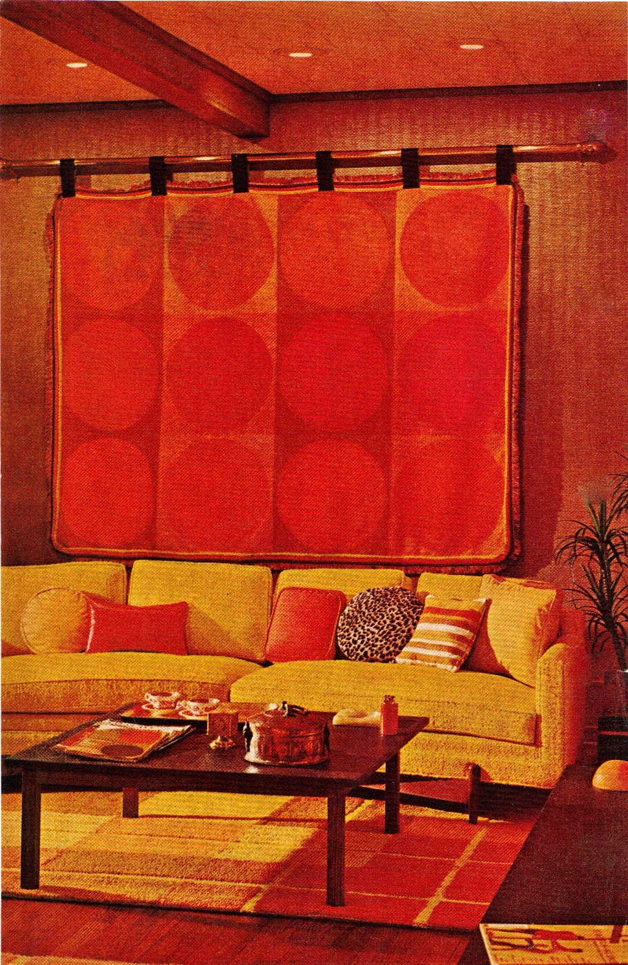 Apartment 528 by the book 1968 bh g technicolor livingrooms Better homes and gardens living room ideas